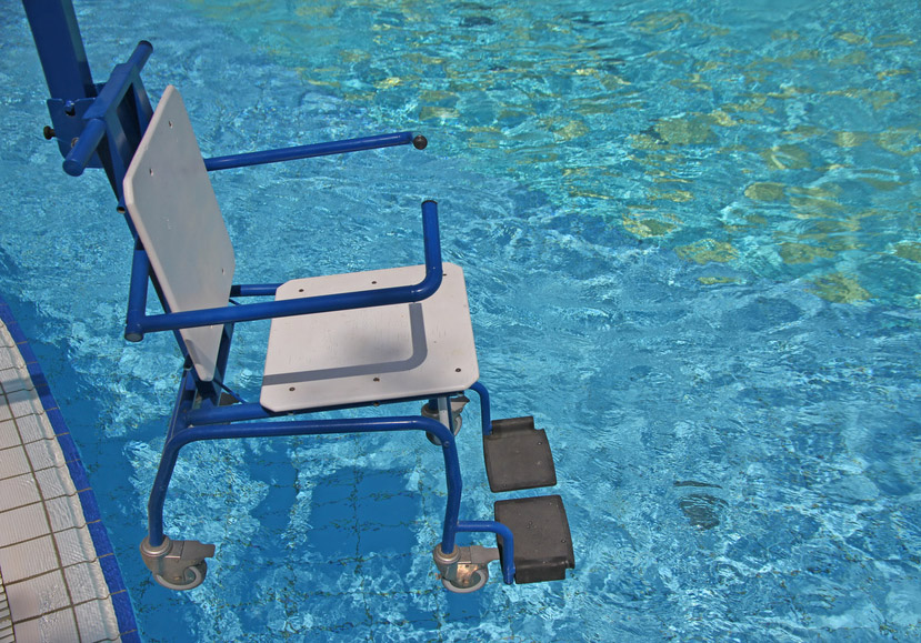 wheelchair for the disabled for use in swimming pool 2